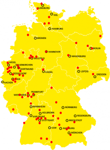 DMS locations throughout Germany