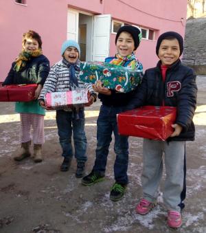 Die Kinder in Mediasch freuten sich über die Geschenke