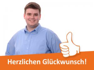 Markus Kühnel hat seine Ausbildung erfolgreich bestanden